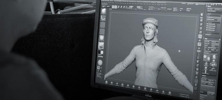 3D-tegning på dataskjerm